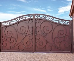 First Impression Security Doors also makes custom gates that can match your front door if you wish.