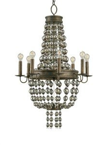 Steampunk chandelier with Edison light bulbs