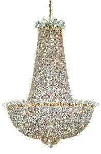 Gatsby-look crystal chandelier