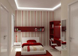 Red-white-teenager-bedroom-