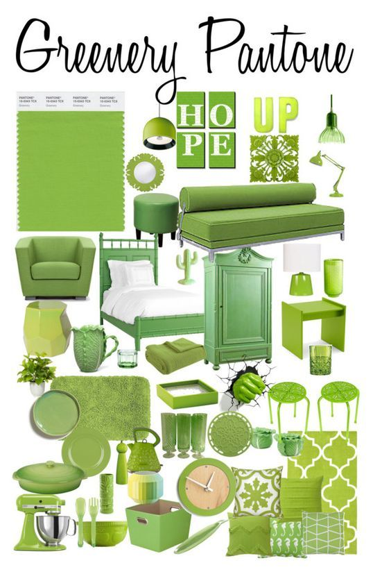 use Pantone Greenery in your home and wardrobe
