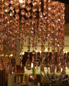 Cappricio Chandelier - Pink Straff Crystals - designed by Chris West